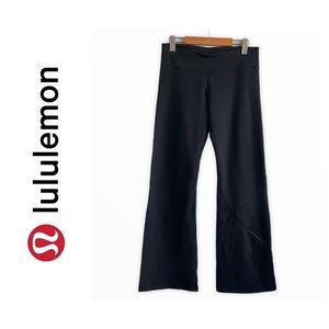 Lululemon Black Flare Pants W/ Zippered Pocket 8